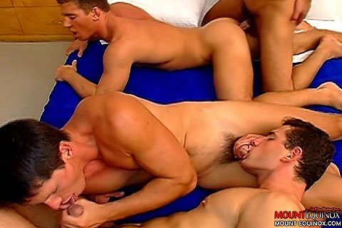 Four Muscular Men Fucking Clip # 4