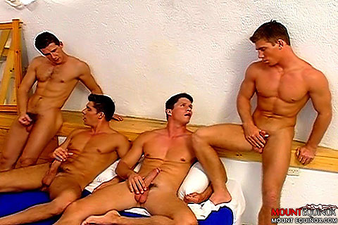 Four Muscular Men Fucking Clip # 5
