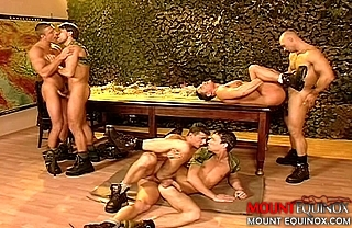 Six Buff Soldiers Fucking #2: Free Gay Video