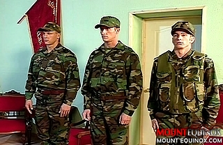Five Hunky Military Men #1: Free Gay Video